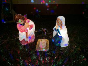 My VERY favorite Christmas decoration is my hard plastic manger scene.