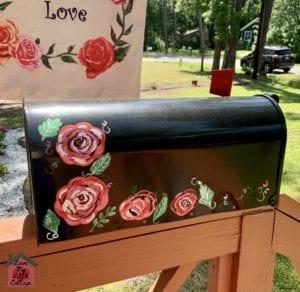 Hand Painted Rose Mailbox