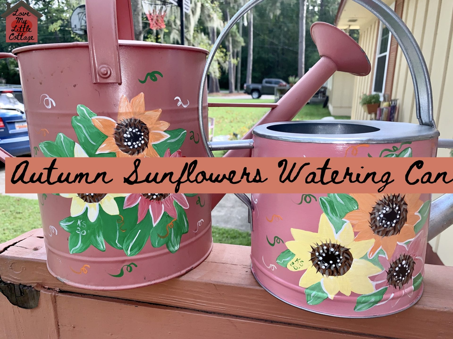 Autumn Sunflower Watering Can